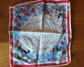 Mickey Mouse child's handkerchief