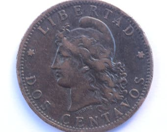 Argentina- Dos centavos 1884- Numismatique- Coin - Collection