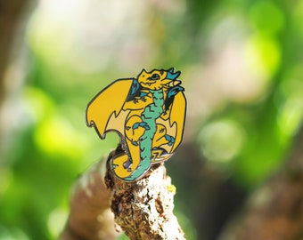 Lightning Dragon Hard Enamel Pin