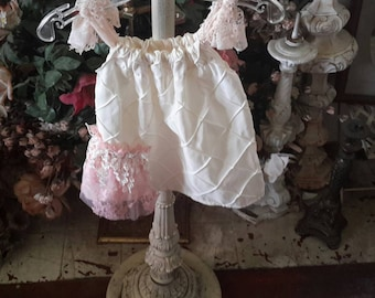 Pillowcase dress with lace trim 0 to 6 months