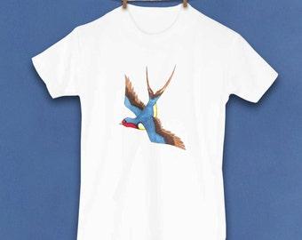 Toddler tshirt, Kids clothing, Swallow Shirt, Barn Swallow, Bird, Birdy, Rockabilly, Boat, Sailor