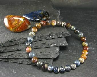 Pietersite Genuine Bracelet ~ 7 Inches  ~ 6mm Round Beads