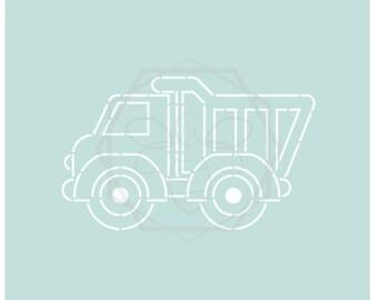 Jillbeesz Dump Truck Stencil