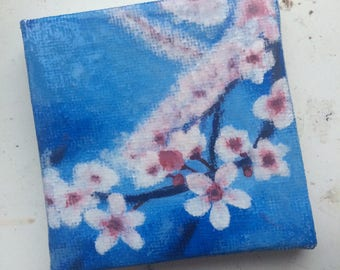 Cherry Blossom Acrylic Canavs Painting (Varnished)