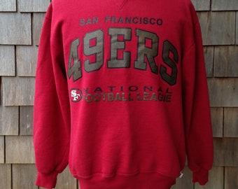 90s vintage San Francisco 49ers sweatshirt - Medium - Forty Niners - Rusell Athletic