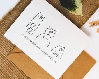 Greeting cards. Love. Word games. Cats
