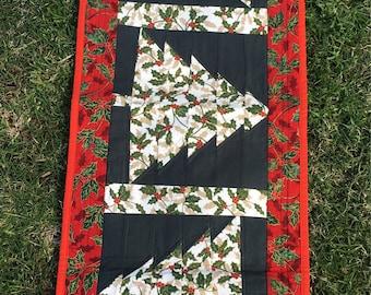 Christmas tree table runner handmade
