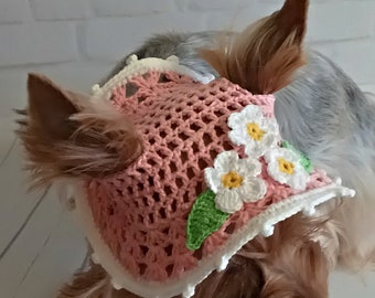 hat dog knitted dog hats hat for dog puppy hat caps for dogs crochet dog pet clothes knit crochet dog hat gifts for pets yorkie dog hat