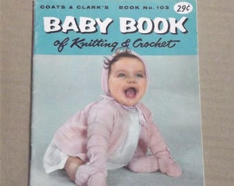 Vintage Coats Clarks Baby Book of Knitting and crochet