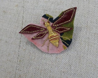 embroidered Dragonfly brooch