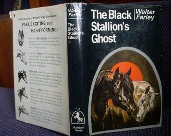 The Black Stallion's Ghost, Walter Farley, Horse Book, #18 Dust Jacket, Vintage Children's Hardcover Book 1969