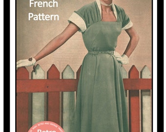 1950s Spring Time Dress Vintage Sewing Pattern - PDF Sewing Pattern - Rockabilly - Instant Download