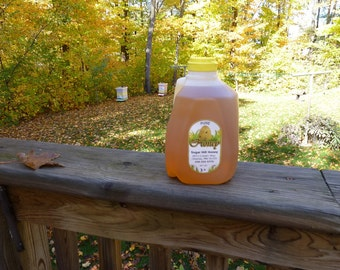 Sugar Hill Raw Honey 3lb Plastic Jug.