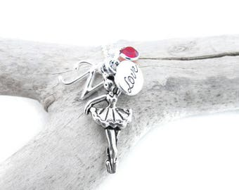Dance Gifts, Dance Necklace, Ballerina Necklace, Ballet Jewelry, Gift for Dancer, Ballerina Gift