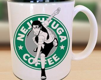 Neji Hyuga Ninja Anime Nerd Coffee Mug Gift Parody Idea