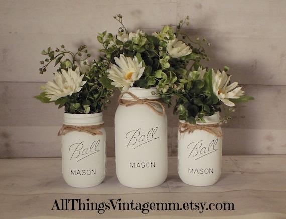 Mason jar decor.