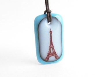 Eiffel Tower Necklace - Paris Jewelry, travel necklace, gift for her - Paris necklace, Paris France