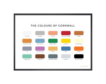 The Colours of Cornwall Print