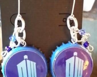 Tardis Inspired Earrings