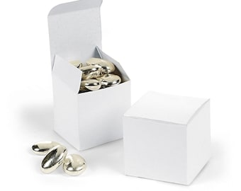 """White Favor boxes-12 EA. 2"""" Square"""