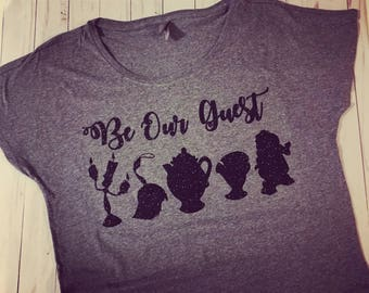 Be Our Guest Glitter Woman's shirt
