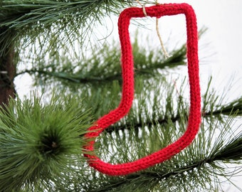 Christmas ornament - ornament Christmas tree - window - boot Christmas - Santa Boot Decoration - knitting-