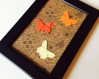 Origami | Butterfly | Cute | Love | Shabby Chic | Retro | Paper Craft | Autumn | Anniversary | Gift | Home