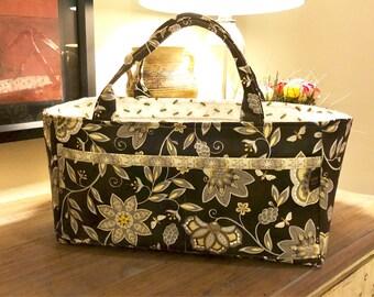 Scrapbooking Caddy | Storage Organizer bin | Craft Sewing Tote | Bee Creative fabric