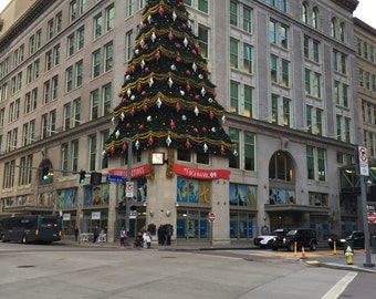 Downtown Pittsburgh Famous Tree/Current Photo of Old Hornes Department Store Tree/Stanwix Street Corner/Downtown at Pittsburgh at Christmas