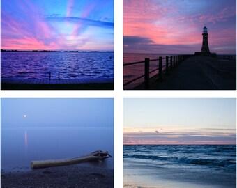 Sunset - Sunset Photo - Sea - Sea Photo - Sea Photo Set - Sea Photos - Set of 4 Photos - Set of Four - Digital Photo - Digital Download