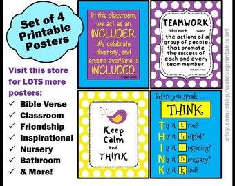 Back to School, Teacher Classroom Decor, Teacher Gifts, Classroom Rules, School Posters, Classroom Art, Printable Signs