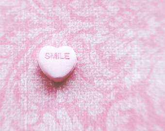 Smile Valentines Day Love Pastel Colors Hearts Romance Pastel Pink Be My Valentine Soft and Dreamy,  Fine Art Print