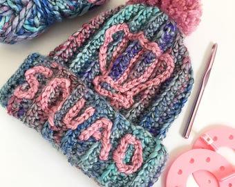 PATTERN // Crochet Mermaid Shell Squad Hat PDF Pattern