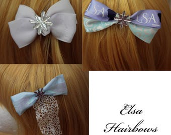 Elsa Disney Bound Hair Bow or Bow Tie