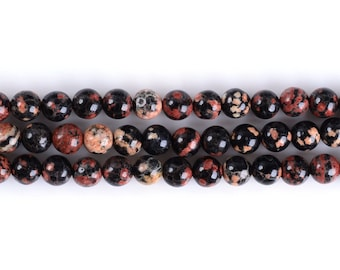 6MM316 Red Leopardskin Jasper round ball loose gemstone beads 16""