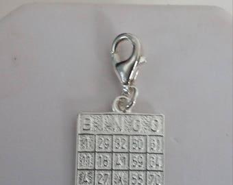 Bingo card charm/pendant