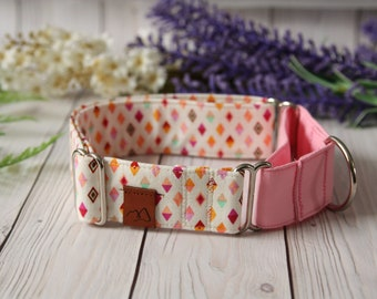 ELOISE Dog Collar - Girl Dog Collar - Martingale - Puppy Collar - Pink Collar - Matching Collars