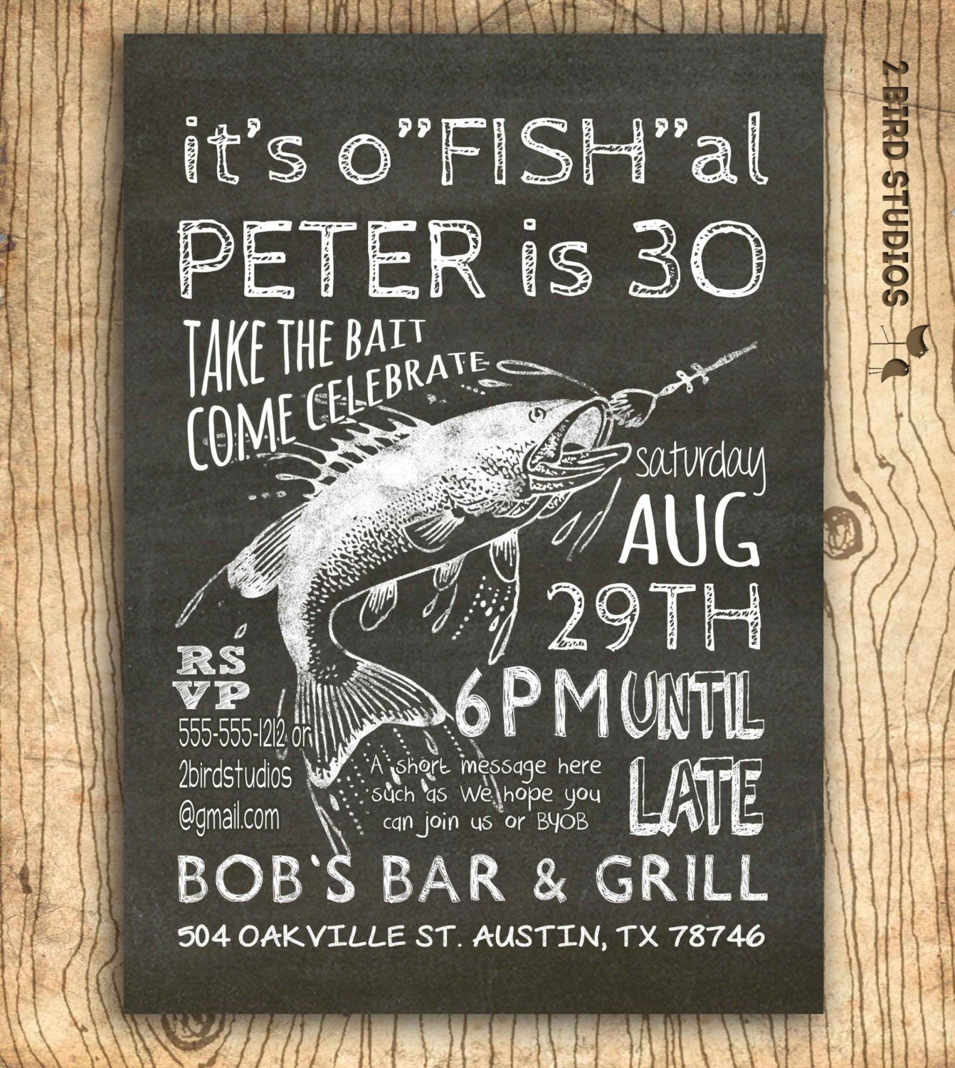 Fishing Invitation 30th Birthday Invitation 40th 50th