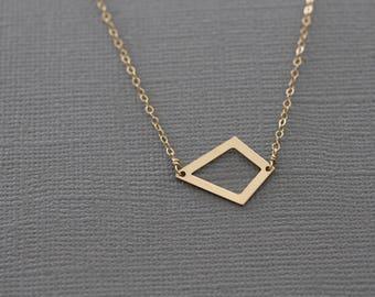Dainty Gold Necklace, Dainty Necklace, Dainty Silver Necklace, Geometric Necklace, Delicate Necklace, Minimalist Necklace, Simple