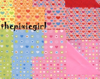 ORIGAMI PAPER HEART Pearl Print 24 Sheets Double Sided