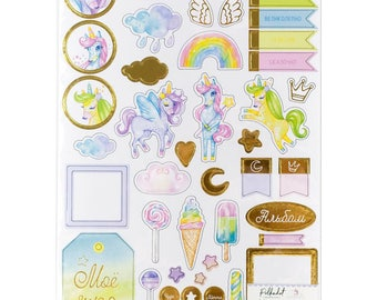 Chipboards scrapbooking Unicorne magic girl albums