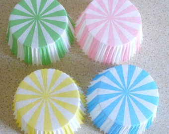 Fairy Bun or Cupcake Cases Carousel Stripes - 100 in pack