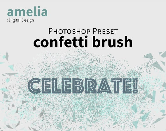 photoshop brush confetti glitter geometric