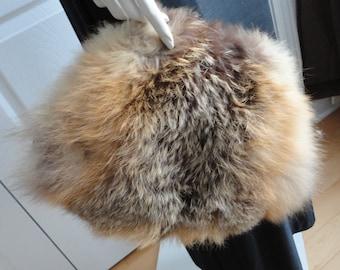 70s Raccoon Fur Women Muff/Purse Preowned