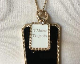 Les Bijoux de Sophie T'Aimer Toujours. dogtag style Necklace