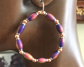 Hoop Earrings Color Changing Thermal Like Wow Collection