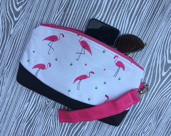 Flamingo Wristlet Clutch, Everyday Wristlet, Everyday Clutch, Personalization