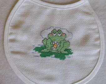 Newborn Cross Stitch Bib