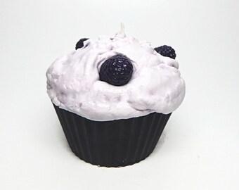 Jumbo Blackberry Cupcake Candle