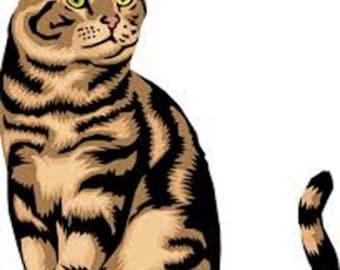 Tabby Cat Advanced Cross Stitch Pattern PDF